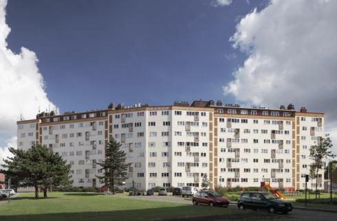 Belgien Wohnsiedlung sozialer Wohnungsbau