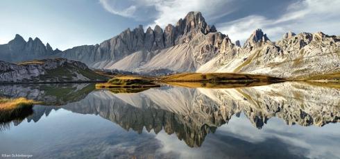 Dolomiten Drei Zinnen Reflektion Bergsee Alpen