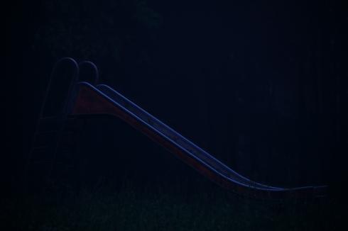 Spielplatz nachts Dunkelheit Fotografie Kunst