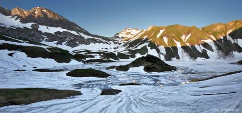Alpen Allgäu Schnee See