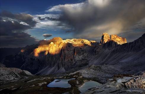 Alpen Foto Alpenglühen dolomiten bödenseen