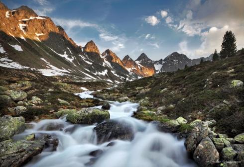 Alpen Natur Wild wildbach ursprünglich unberührt