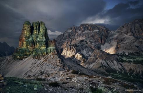 Dolomiten Toblinger Knoten Alpen Felsturm